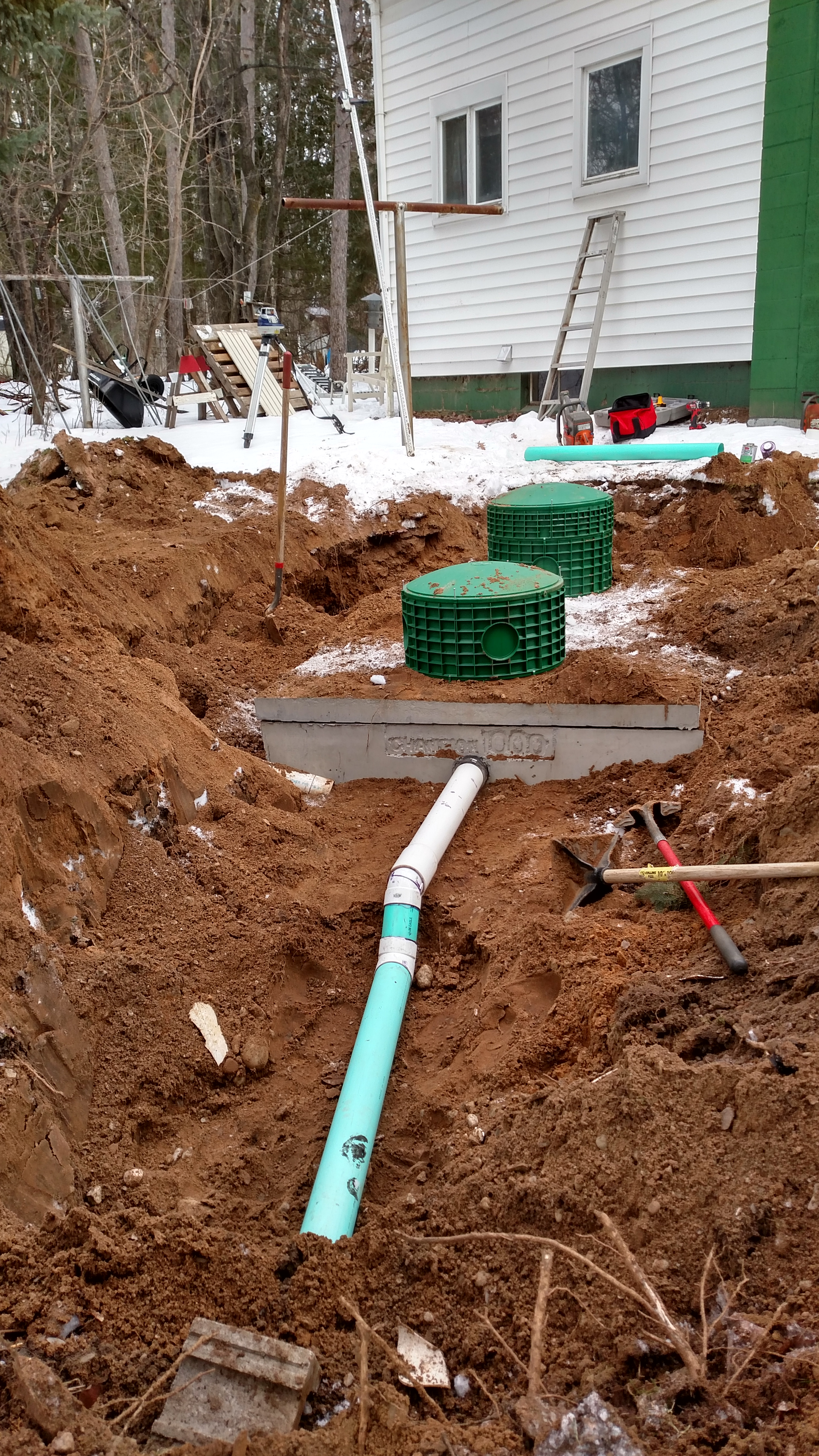 New septic tank