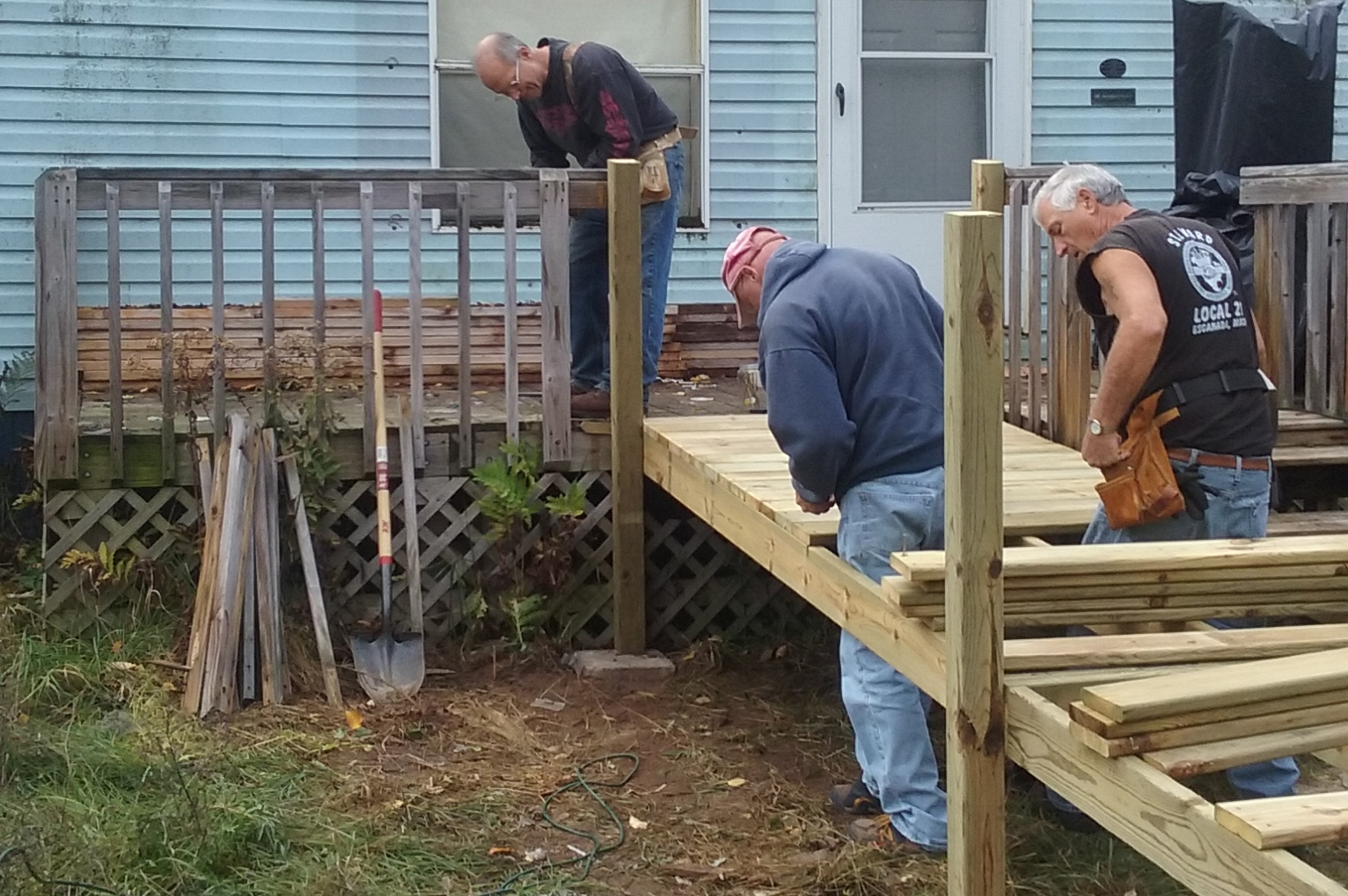 Building a wheel chair ramp